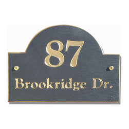 Sunrise Address Plaque - The large, bold house number and high rising arch of this plaque make it almost impossible to miss. Draw some attention to your home with this simple but stylish plate.