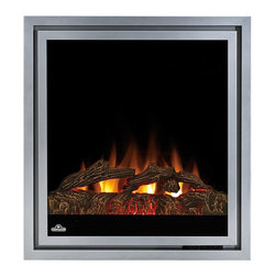 "Dynasty - Napoleon 30-in Plug-In Electric Fireplace Insert w/ Logs - EF30 - The Napoleon 30"" Plug-In Electric Fireplace EF30 provides supplemental heat for up to 400 square feet. The electric insert features realistic flame effect, log bed, and multi-function remote. The EF30 includes a one year manufacturer's warranty."