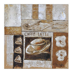 Ren-Wil - Ren-Wil OL926 Caffe Square Canvas Wall Art by Olivia Salazar - A classic image of a coffee scene hand embellished in a warm neutral color pallet.