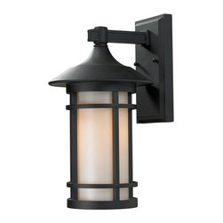 Z-Lite - Aluminum Frame Wall Mount Lantern - Clean contemporary styling on a traditional look make this medium wall mount fixture well suited for any home.
