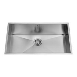 Vigo - VIGO VG3219C Single Bowl Sink - Enhance your kitchen workspace with a VIGO contemporary stainless steel kitchen sink. Fully undercoated and padded with unique multi layer sound eliminating technology, which also prevents condensation