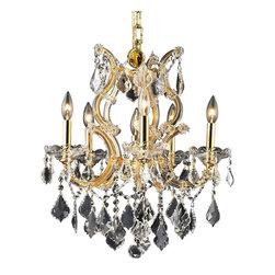 Elegant Lighting - Elegant Lighting 2800D20G/RC Maria Theresa Collection Hanging Fixture - Elegant Lighting 2800D20G/RC Maria Theresa Collection Hanging Fixture