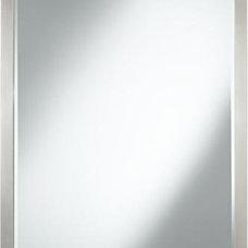 "Rory Brushed Nickel 40"" High Metal Wall Mirror"
