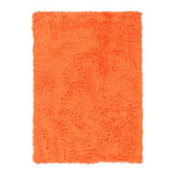 Linon Rugs - Faux Sheepskin Orange Rug - Give any room a luxurious twist with the softest pile, sure to make the perfect addition to your space. Features: -Technique: Table tufted.-Material: Modified acrylic pile.-Faux suede leather backing.-Rug Color: Orange.-Collection: Faux Sheepskin.-Distressed: No.-Collection: Faux Sheepskin.-Construction: Machine made.-Technique: Table tufted.-Primary Pattern: Solid.-Border Material: Modified acrylic.-Type of Backing: Faux suede leather back.-Material: 100% Modified acrylic pile.-Fringe: No.-Reversible: No.-Rug Pad Needed: Yes.-Water Repellent: No.-Mildew Resistant: No.-Stain Resistant: No.-Fade Resistant: No.-Swatch Available: No.-Eco-Friendly: No.-Recycled Content: 0%.-Outdoor Use: No.-Product Care: Vacuum regularly. Spot clean with mild detergent and damp cloth..-Country of Manufacture: United States.Specifications: -CRI certified: No.-Goodweave certified: No.Dimensions: -Pile height: 1''.Warranty: -Product Warranty: 30 days free of manufacturer's defects..