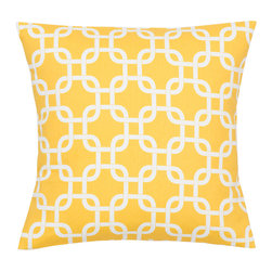 Look Here Jane, LLC - Gotcha Yellow Pillow Cover - PILLOW COVER