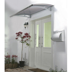 Poly-Tex, Inc. - Aquila 1500 Door Awning, Grey - Maintenance free