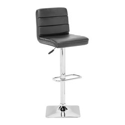 Zuo Modern - Zuo Modern Variance Modern Barstool X-541003 - This stool is made with a chromed steel frame and leatherette wrapped seat and back cushions with adjustable height and a swivel base.