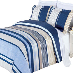 Royal Tradition - RT Park-Ave 3-Pieces100% Egyptian Cotton Comforter Duvet Cover - Enjoy the comfort and Softness of 100% Egyptian cotton bedding with 300 Thread count fiber reactive prints.*100% Egyptian cotton *300 Thread count *Reactive Print, lasts longer and looks like real live pictures.