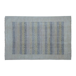 1800-Get-A-Rug - Oriental Rug Hand Knotted Rug Striped Modern Gabbeh Sh9303 - About Modern & Contemporary