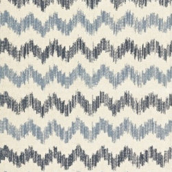 Schumacher - Sierra Ikat Fabric - Tradition has never been cooler. Dyed using the traditional ikat technique, this chevron-patterned fabric brings a stylish global look into your eclectic style. The eye-catching bold lines in gentle colors are a great way to add structure to your room while keeping the look soft as the same time. There's a two-yard minimum order.