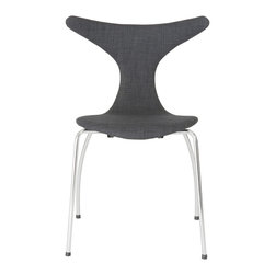 Euro Style - Euro Style Frida Side Chair Set of 4 02849DKGRY - If you took an x-ray of a seated person and determined precisely where a body needs support to be comfortable, you would design this chair. Upper wings for shoulder support, a gentle curve for your lower back and a smooth all-day-seat. The Frida.