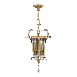 Fine Art Lamps - Beveled Arcs Gold Lantern, 762340ST - Bring the pristine sparkle of crystal and the warm glow of gold to your home. It's the crystals' graceful curves that make this lantern so distinctive.
