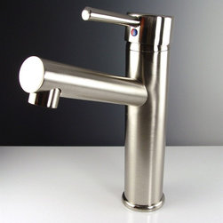 Fresca - Fresca Savio Centerset Brushed Nickel Bathroom Faucet - Fresca faucets are the same great faucets that ship with the vanities we sell at DecorPlanet. Now you are able to purchase these faucets individually. This faucet is made from heavy duty brass and features a brushed nickel finish.