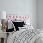 """Blissliving Home - Blissliving Home """"Boulevard"""" Pillow, 12"""" x 20"""" - Petite black polka dots spread across the white ground of bed linens dancing with ruffles. Duvet cover sets are made of cotton sateen and include duvet cover and coordinating black sham(s) edged with polka-dot ruffles. Twin duvet cover set includes 66..."""