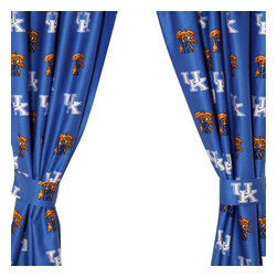 College Covers - NCAA Kentucky Wildcats Collegiate Long Window Drapes - Features: