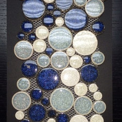 Tile Products - Crystal Cane Cobalt Mix. This mosaic can be used on the wall or shower pan to add some color and character to any bathroom. It can also be used as a kitchen backsplash.
