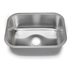 Hahn - Hahn Chef Series Large Single Bowl Sink - You cannot go wrong with this classic large single bowl sink made from premium stainless steel. As the Hahn chef series boasts a modern, radiant satin finish, industrial grade sound deadening coating and DripGuard, your sink will always be protected from scratches, noise, and condensation.