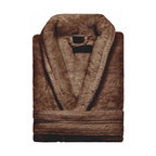 Kassatex - Kassatex KassaSoft Bath Robe, Chocolate - After a hard day, wouldn't it be great to come home to a hot bath and this gorgeous bathrobe? It's made of soft, absorbent Supima cotton and comes in your choice of four colors to match your bathroom, your bedroom or your mood.