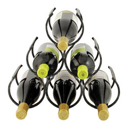 True Fabrications - Wine Rack 6 Bottle Country Home Wine Rack - Made from strong, but lightweight metal, the Country Home Wine Rack is a stylish and secure six bottle rack. Its industrial finish complements any interior decor.