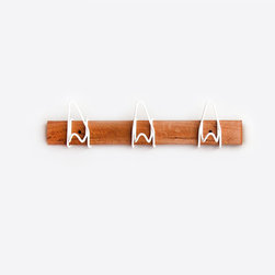 White Hanging Coat Rack - The 3 Hook Knot Rack is a great addition to any room! This versatile piece will add beauty to your modern home.