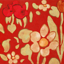 "Trans-Ocean - 20""x29.5"" Visions IV Watercolor Flower Red Mat - The highly detailed painterly effect is achieved by Liora Mannes patented Lamontage process which combines hand crafted art with cutting edge technology.The 100% Polyester face, and 100% Recycled Rubber non-skid backing make this suitable for Indoor or Outdoor use and easy to clean.The low profile nature of these Lamontage mats is ideal for use in front of doors or in the kitchen, and the fun designs will bring excitement to any room of the house. Made in USA."
