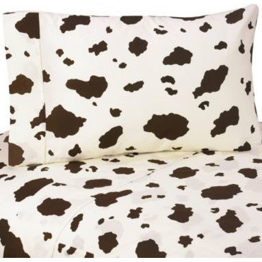 Sweet Jojo Designs - Sweet Jojo Designs Cowgirl Cow Print Sheet Set - The little cowgirl in your life will love spending playtime in her room, surrounded by Sweet Jojo Design's cowgirl themed collection. Saddle up for bedtime, outfitted with this sweet Cowgirl Cow Print Sheet Set.