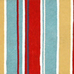 Trans-Ocean - Sailor Stripe Red Mats 4156/44 - The highly detailed painterly effect is achieved by Liora Mannes patented Lamontage process which combines hand crafted art with cutting edge technology.The 100% Polyester face, and 100% Recycled Rubber non-skid backing make this suitable for Indoor or Outdoor use and easy to clean.The low profile nature of these Lamontage mats is ideal for use in front of doors or in the kitchen, and the fun designs will bring excitement to any room of the house.
