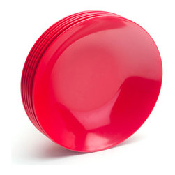 Pasta Bowls, Red, Set of 6 - All color all the time even at meal time.Ships in: 1-2 business days