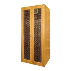 Vinotemp VINO-700G 700 Model Wine Redwood Cabinet w/ 2 Glass Doors - 7281Vinotemp 700G features ...