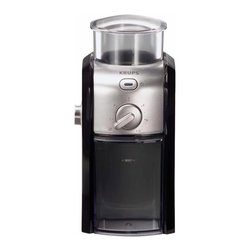 3.0 - Krups GVX212 Electric Coffee Burr Grinder, Stainless Steel - -Burr Milling System avoids overheating, preserves aroma and flavor
