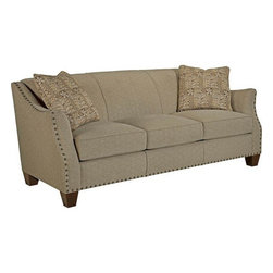 Broyhill Furniture - Allison Traditional Style Stationary Sofa - 3556-3 - Allison Collection Sofa