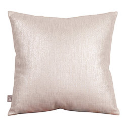 "Howard Elliott - Glam Sand 16"" x 16"" Pillows - Pillows are made to order. Change up color themes or add pop to a simple sofa or bedding display by piling up the pillows in a multitude of colors, textures and patterns. This Glam Pillow features a linen-like texture in a soothing sand color with a metallic finish. Glam Sand, in a linen-like texture in a soothing sand color with a metallic finish. 16 in. x 16 in."