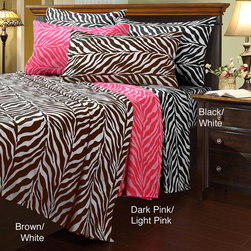 UHF - Zebra Microfiber Twin-size Sheet Set - These microfiber twin-size sheets are a comfortable way to cover your bed. With an adorable zebra-print design,these sheets are as attractive as they are functional. This set includes one flat sheet,one fitted sheet and one pillowcase.