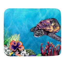 Brazen Design Studio - Mousepad - Sea Turtle Painting - Art for Home or Office - Mousepad - Sea Turtle Ocean Wildlife Watercolor Painting - Reproduction Art for Home or Office