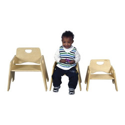 ECR4KIDS - ECR4KIDS Stacking Wooden Toddler Seat-2 Pack Brown - ELR-18005 - Shop for Childrens Chairs from Hayneedle.com! The 2-Pack Hardwood Toddler Seat is made of hardwood construction for durability. The natural oak finish will fit with most any decor in the house daycare or classroom. For children's safety there are rounded edges to avoid any unnecessary bumps and scrapes. Chairs interstack for easy storage and are sold in 2-packs. Dimensions: 17W x 13.25D x 18H inches. About Early Childhood ResourcesEarly Childhood Resources is a wholesale manufacturer of early childhood and educational products. It is committed to developing and distributing only the highest-quality products ensuring that these products represent the maximum value in the marketplace. Combining its responsibility to the community and its desire to be environmentally conscious Early Childhood Resources has eliminated almost all of its cardboard waste by implementing commercial Cardboard Shredding equipment in its facilities. You can be assured of maximum value with Early Childhood Resources.