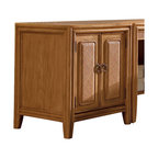 American Drew - American Drew Antigua Door Cabinet in Toasted Almond - Antigua combines popular materials, finishes, hardware and shapes and blends them with pieces for today's lifestyles. It is a collection sure to add a sophisticated coastal or tropical flare to any home. Unique options for bedroom make it easy to create the perfect setting that fits your style.