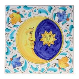 Ceramic - Italian Sun & Moon Plaque - Italian Sun & Moon Plaque