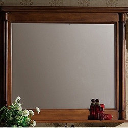 """Legion Furniture - 48"""" Vanity Mirror in Light Walnut - Features: -Vanity mirror. Specifications: -Manufacturer provides one year warranty on parts. -Overall dimensions : 33"""" H x 48"""" W x 4"""" D."""