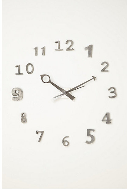 contemporary clocks by Anthropologie
