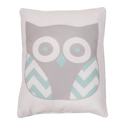THRO - Harbor Gray Reversible Owl Pillow - Add enchanting character to your d̩cor with this darling owl pillow, which offers plush comfort and a handy reversible feature. �� 14'' W x 18'' H Polyester Spot clean Imported