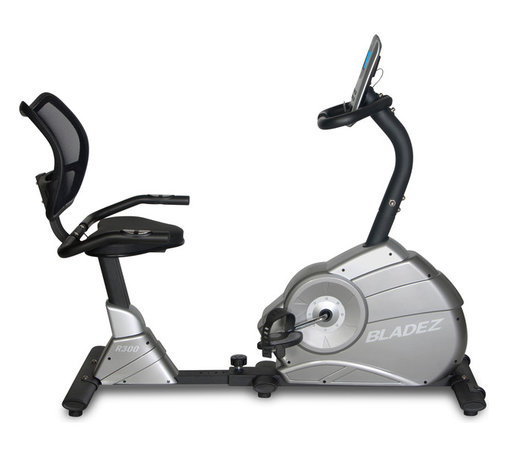Bladez Fitness - Bladez Fitness R300 Recumbent Bike - With a feature set not normally seen in its price range, the R300 provides the creature comforts users desire in a recumbent bike. Featuring a full walk-through design with an easy to adjust fore/aft seat slider, the R300 provides comfort through mesh back seat that provides cooling ventilation. The R300 keeps you motivated with a wide range of programs and intensity levels all controlled by a console with a beautiful blue backlit LCD display.