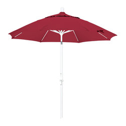 California Umbrella - 9 Foot Sunbrella Crank Lift Collar Tilt Aluminum Market Umbrella, White Pole - California Umbrella, Inc. has been producing high quality patio umbrellas and frames for over 50-years. The California Umbrella trademark is immediately recognized for its standard in engineering and innovation among all brands in the United States. As a leader in the industry, they strive to provide you with products and service that will satisfy even the most demanding consumers.