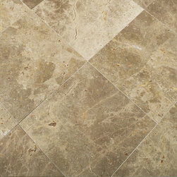 "Flooring - ANN SACK Amativo 16"" x 16"" marble field in brushed finish"