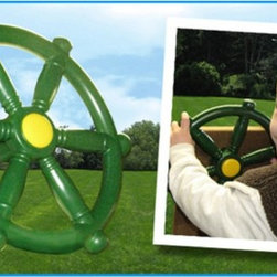 Creative Playthings - Creative Playthings Ships Wheel - AM966-204 - Shop for Swings Slides and Gyms from Hayneedle.com! Command your ship to safe waters with Creative Playthings' Ships Wheel. Perfect for children with big imaginations. Durable plastic construction withstands the elements and extended use. Easily attaches to most Creative Playthings' swing sets.About Creative PlaythingsSince 1951 Creative Playthings has been building wooden swing sets and swing set accessories at their plant in Emporia Virginia. Creative Playthings cares deeply about the lives of American children as well as the livelihood of their American workers and all of their play systems are proudly Made in the USA. Creating beautiful functional children's play sets are not the sole goal at Creative Playthings' headquarters. The mission of Creative Playthings is to introduce exercise build self-confidence and develop the imaginations of young children so that they can grow to be well-rounded teens and adults. And for them that mission starts in the backyard.