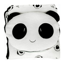 Blancho Bedding - Friendly Panda Decorative Pillow With Blanket - Aesthetics and Functionality Combined. Hug and wrap your arms around this stylish Friendly Panda decorative pillow, offering a sense of warmth and comfort to home buddies and outdoors people alike. This art pillow features contemporary design, modern elegance and fine construction. The Friendly Panda decorative pillow includes a lovely panda blanket  which measures 37.4 by 31.4 inches. Blanket comes inside pillow. Zipper closure.