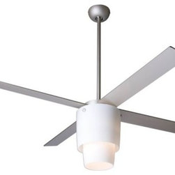 Modern Fan Company - Halo Ceiling Fan with Light by Modern Fan Company - A modern ceiling fan does double-duty providing air circulation and overhead lighting. Plus, it does all this while looking good.