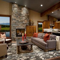 Lakeside Cabins - Living Room -