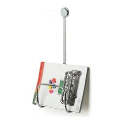 StilHaus - Wall Mounted Chrome Magazine Holder - Chromed brass magazine holder.