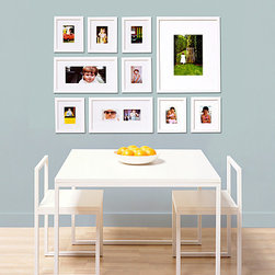 Gallery wall by Picturewall® - Picturewall® is the worlds first All-in-One Solution for creating a perfect photo gallery in minutes. No measuring, no mistakes. The Original Gallery in a Box™