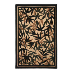 Mohawk Home - Large Beige Indoor/ Outdoor Floral Rug (8' x 10') - This terrace beige rug is made of 100-percent olefin and is suitable for indoor or outdoor applications. This rug is accented with shades of black, wheat and grey.